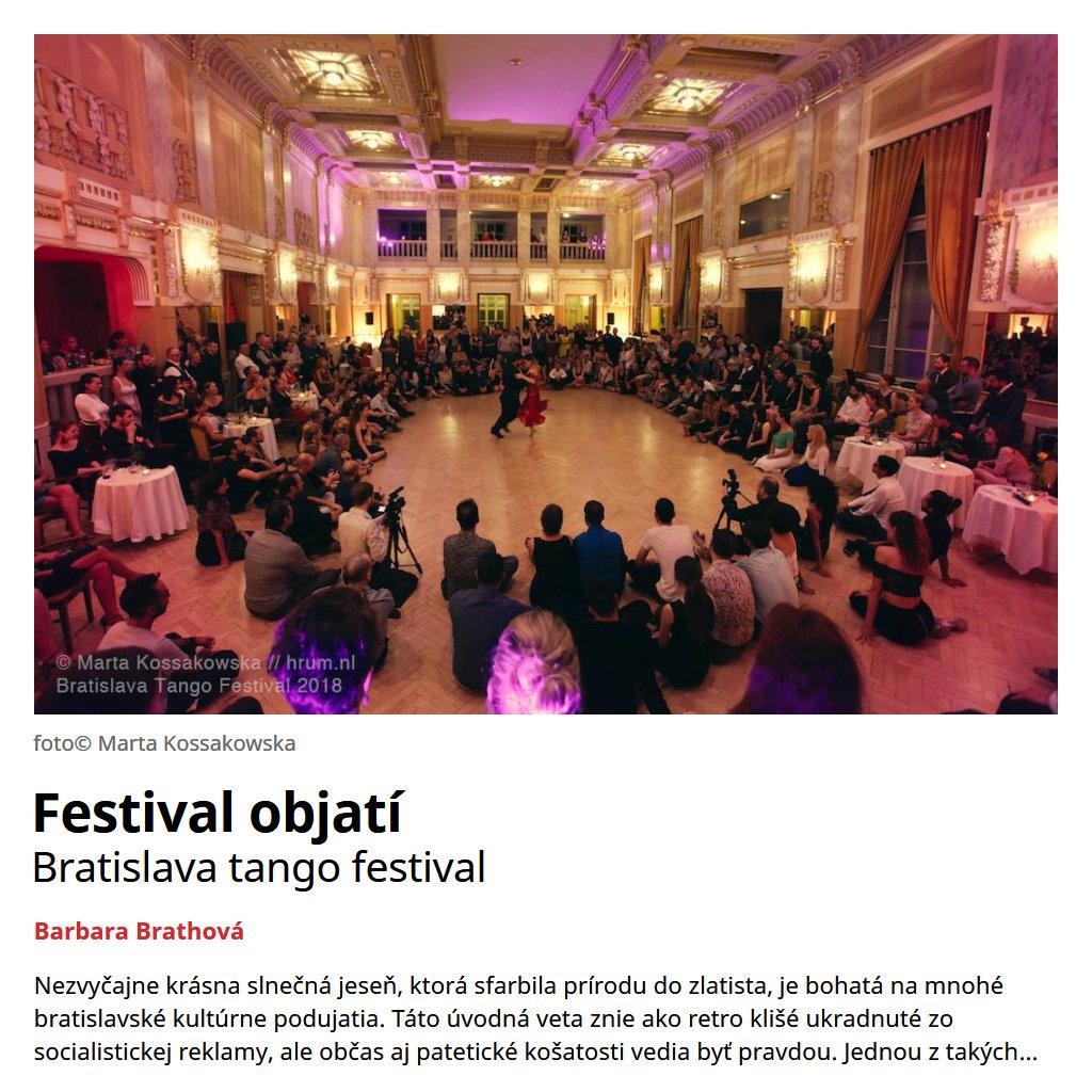 Festival objatí - Bratislava tango festival