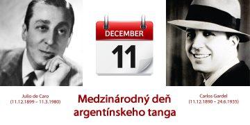 11. december - Medzinárodný deň argentínskeho tanga