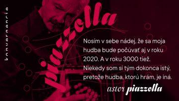 Hudobný festival Konvergencie 2021 je venovaný tvorbe Astora Piazzollu.