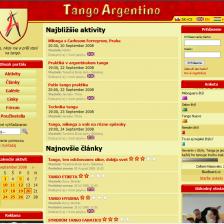 TangoArgentino.sk sa mení na portál (2008)